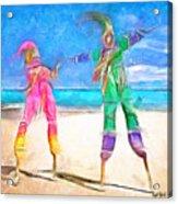 Caribbean Scenes - Moko Jumbie Acrylic Print