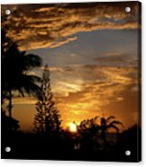 Caribbean Sunset Acrylic Print