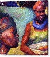 Caribbean Women With Oranges Acrylic Print