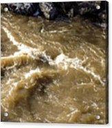 Caribou Stream Rapids Acrylic Print