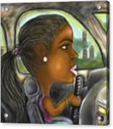 Caricature Ride With Jay Acrylic Print