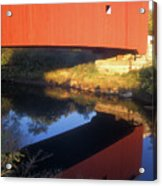 Carleton Covered Bridge Reflection Acrylic Print