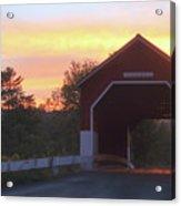 Carlton Covered Bridge Swanzey Nh Sunset Acrylic Print
