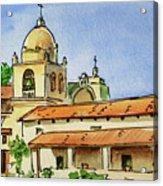 Carmel By The Sea - California Sketchbook Project  Acrylic Print
