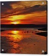 Carmel Colored Sunset In Kansas.  Acrylic Print