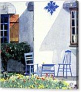 Carmel Cottage With Orange Acrylic Print by David Lloyd Glover