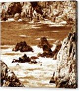 Carmel Highlands 8 Sepia Acrylic Print