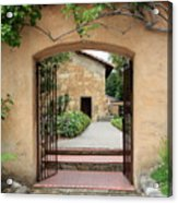 Carmel Mission Path Acrylic Print