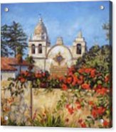 Carmel Mission Acrylic Print by Shelley Cost
