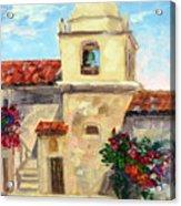Carmel Mission, Summer Acrylic Print