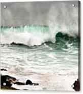 Carmel Wave Rock Acrylic Print