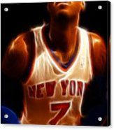 Carmelo Anthony - New York Nicks - Basketball - Mello Acrylic Print by Lee Dos Santos