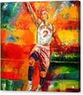 Carmelo Anthony New York Knicks Acrylic Print by Leland Castro