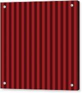 Carmine Red Striped Pattern Design Acrylic Print