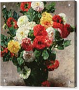 Carnations In A Vase Acrylic Print