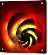 Carnelian Spiral Acrylic Print