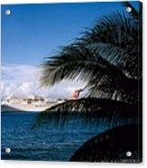 Carnival Docked At Grand Cayman Acrylic Print