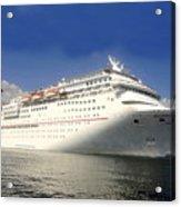 Carnival Inspiration Cruise Ship Acrylic Print