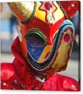 Carnival Red Duck Portrait Acrylic Print