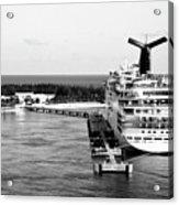 Carnival Sensation Cruise Ship - Grand Turk Island Acrylic Print
