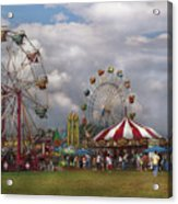 Carnival - Traveling Carnival Acrylic Print by Mike Savad