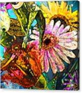 Carnivale Flori Acrylic Print