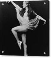 Carol Bergman, A Ziegfeld Girl Posed Acrylic Print