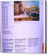 Carole Spandau Listed In Magazin'art Biennial Guide To Canadian Artists In Galleries 2002-2003 Edit Acrylic Print