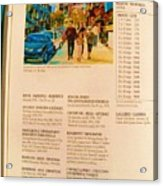 Carole Spandau Listed In Magazin'art Biennial Guide To Canadian Artists In Galleries 2006-2008 Edit Acrylic Print