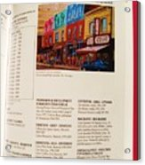 Carole Spandau Listed In Magazin'art Biennial Guide To Canadian Artists In Galleries 2009-2010 Edit Acrylic Print