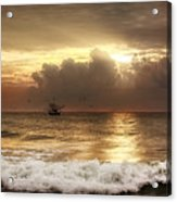 Carolina Beach Shrimp Boat At Sunrise Acrylic Print