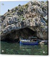 Caroline Cave And Maltese Traditional Boat Acrylic Print