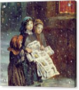 Carols For Sale  Acrylic Print by Augustus Edward Mulready
