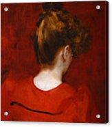 Carolus Duran Study Of Lilia Acrylic Print