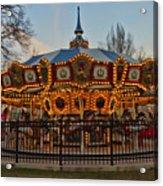 Carousel At Dusk Acrylic Print