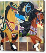 Carousel Beauties Acrylic Print