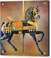 Carousel Black Stallion Body Acrylic Print