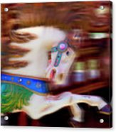 Carousel Horse In Motion Acrylic Print