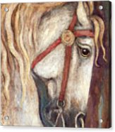 Carousel Horse Painting Acrylic Print