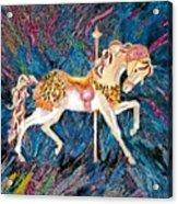 Carousel Horse With Dark Background Acrylic Print