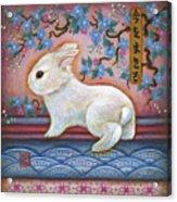 Carpe Diem Rabbit Acrylic Print