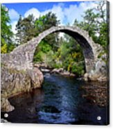 Carr Bridge Scotland Acrylic Print