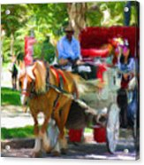 Carriage Colors Acrylic Print
