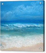 Carribean Blue Acrylic Print