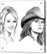 Carrie And Carrie Underwood Acrylic Print