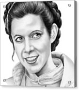 Carrie Fisher Acrylic Print
