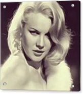 Carrol Baker, Vintage Actress Acrylic Print