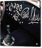 Carroll Shelby Signed Dashboard Acrylic Print