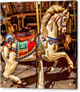 Carrousel Horse Ride Acrylic Print