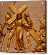 Carrying Cross Acrylic Print